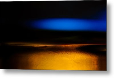 Black Blue Yellow Metal Print