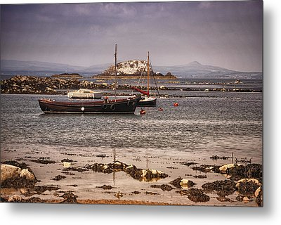 Black Boat Metal Print