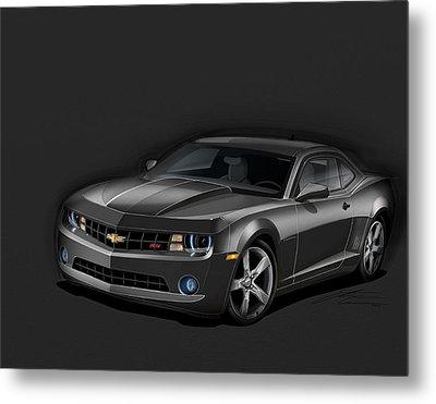 Black Camaro Metal Print