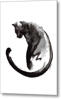Black Cat Metal Print by Mariusz Szmerdt