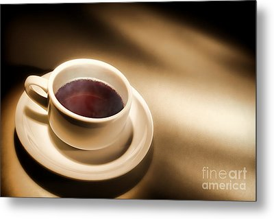 Black Coffee Metal Print by Olivier Le Queinec