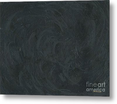 Black Color Of Energy Metal Print by Ania M Milo