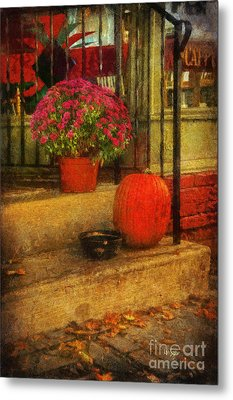 Black Dog Coffee And Catering Metal Print by Lois Bryan