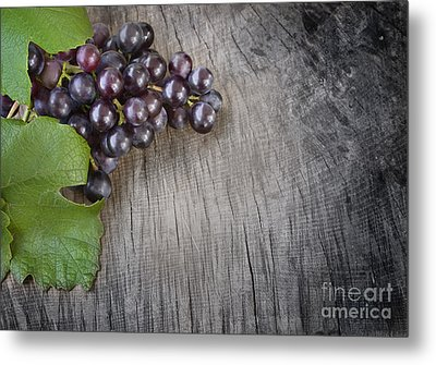 Black Grapes Metal Print by Mythja  Photography