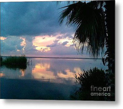 Black Hammock Sunset 3 Metal Print