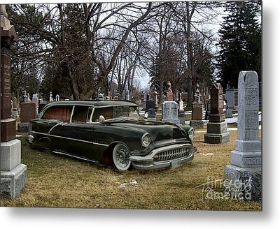 Black Hearse Metal Print by Tom Straub