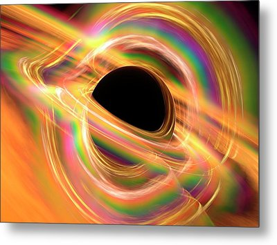 Black Hole Metal Print by Alfred Pasieka