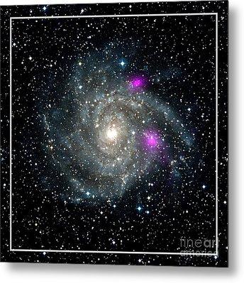 Black Holes In Spiral Galaxy Nasa Metal Print by Rose Santuci-Sofranko