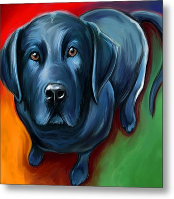 Black Lab Metal Print by David Kyte