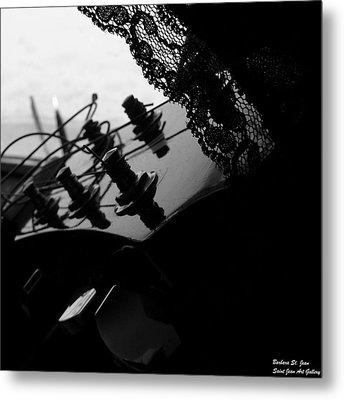 Black Lace Valentine Metal Print by Barbara St Jean