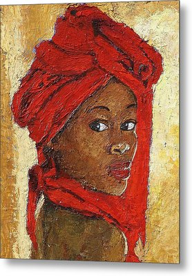 Black Lady No. 12 Metal Print by Janet Ashworth