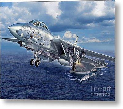 Black Lion Launch - F-14d Metal Print by Stu Shepherd