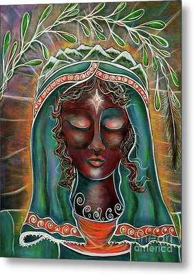 Metal Print featuring the painting Black Madonna by Deborha Kerr