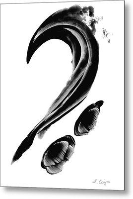 Black Magic 300 - Black And White Art Metal Print by Sharon Cummings