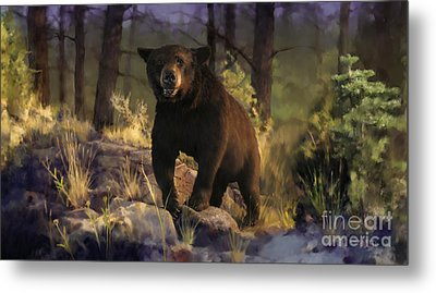 Metal Print featuring the painting Black Max by Rob Corsetti