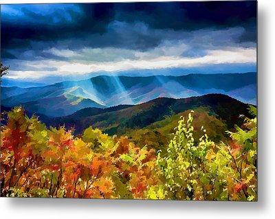 Black Mountains Overlook On The Blue Ridge Parkway Metal Print