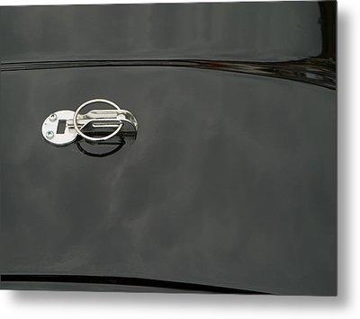 Black Old Car Detail Metal Print by Odon Czintos