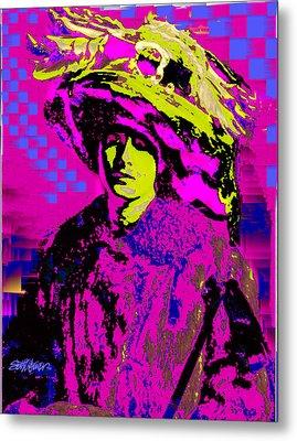 Black On Pink Metal Print by Seth Weaver