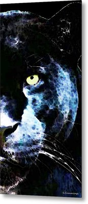 Black Panther Art - After Midnight Metal Print by Sharon Cummings