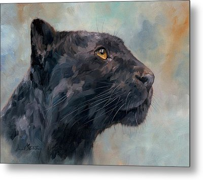 Black Panther Metal Print by David Stribbling