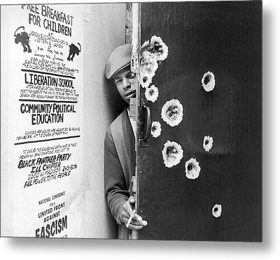 Black Panther Raid Metal Print by Underwood Archives