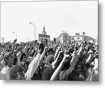 Black Panther Rally Metal Print by Underwood Archives Adler