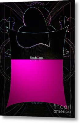 Black Pink Luv Metal Print