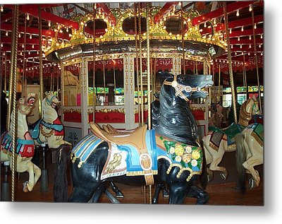 Metal Print featuring the photograph Black Pony by Barbara McDevitt