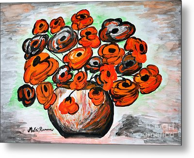 Black Poppies Metal Print by Ramona Matei