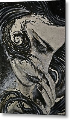 Black Portrait 4 Metal Print by Sandro Ramani