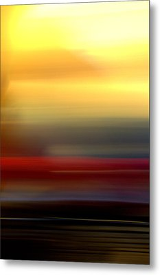 Black Red Yellow Metal Print