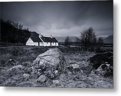 Black Rock Cottage - Glencoe Metal Print
