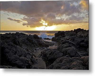Black Rock Sunset Metal Print by Brian Governale