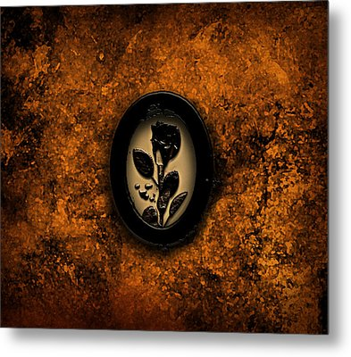 Metal Print featuring the painting Black Rose by Persephone Artworks