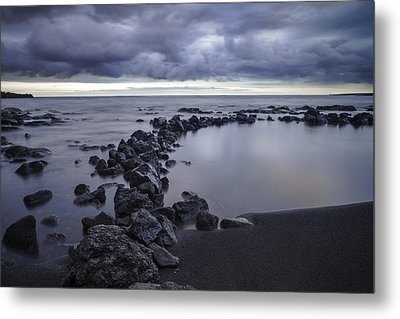 Big Island - Black Sand Beach Metal Print