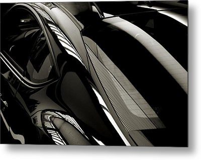 Black Satin Metal Print