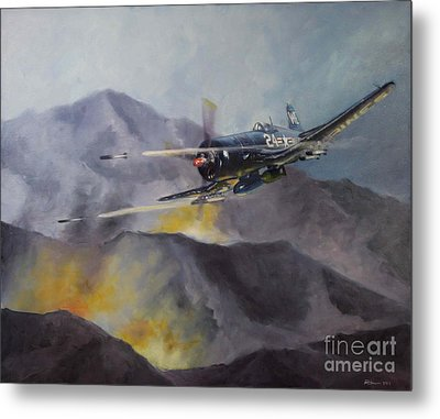 Metal Print featuring the painting Black Sheep Cas by Stephen Roberson
