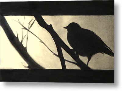 Black Side Beauty Metal Print by Atinderpal Singh