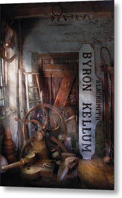 Black Smith - Byron Kellum Blacksmith Metal Print by Mike Savad