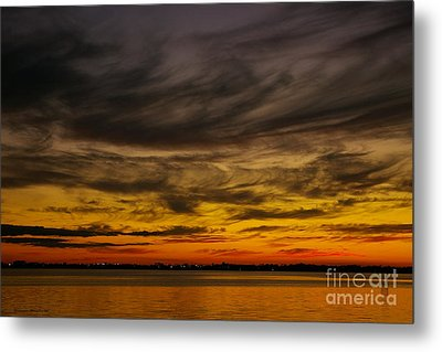 Black Sunset Metal Print by Tannis  Baldwin