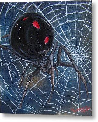 Black Widow Metal Print by Debbie LaFrance