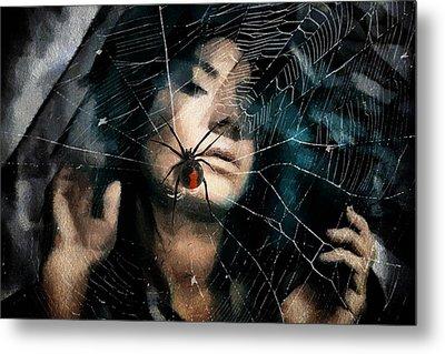 Black Widow Metal Print by Gun Legler