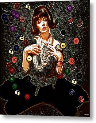Black Wig Mm Metal Print by Daniel Janda