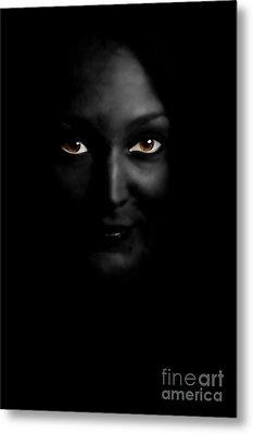 Black Woman Metal Print by Angelika Bentin
