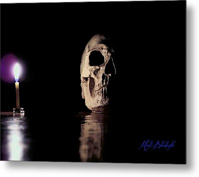 Metal Print featuring the photograph Blackbeard's Skull by Mark Blauhoefer