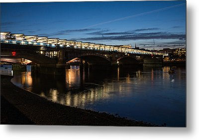 Metal Print featuring the photograph Blackfriars Bridge - London U K by Georgia Mizuleva