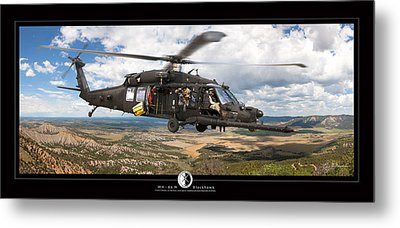 Blackhawk Helicopter Metal Print by Larry McManus