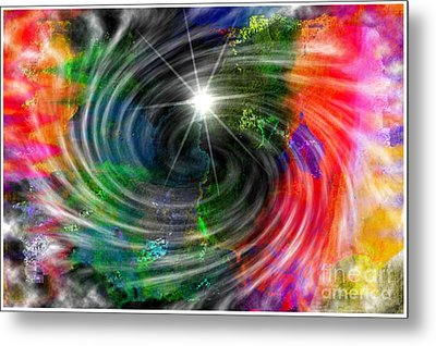 Blackhole Creation Metal Print