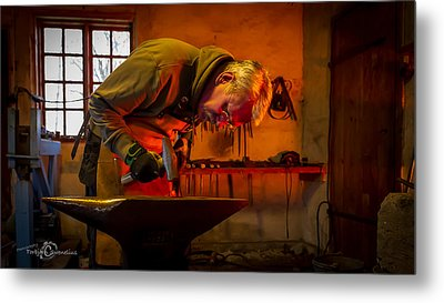 Blacksmith In Torresta Metal Print by Torbjorn Swenelius