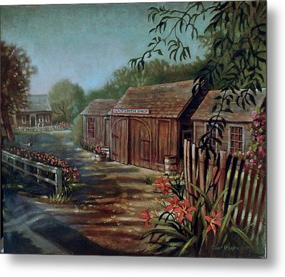 Blacksmith Shop Metal Print by Janet McGrath